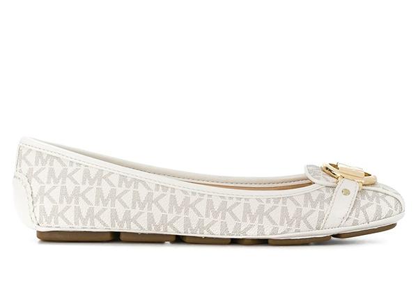Značky - Baleriny Michael Kors Fulton Monogram vanilla