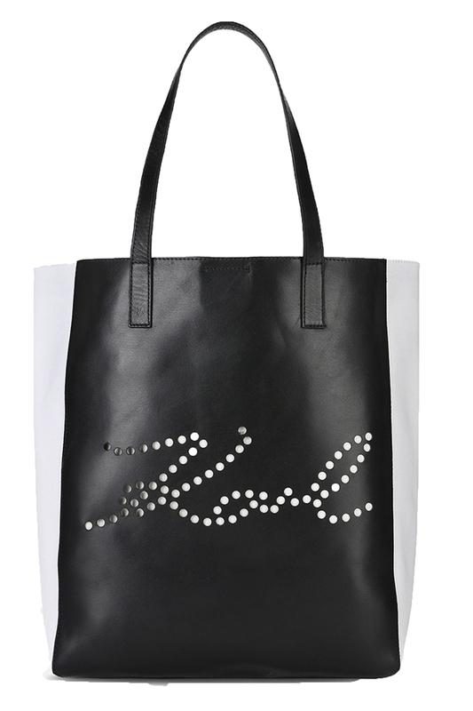 Ženy - Kabelka Karl Lagerfeld K/Signature Perforated Shopper
