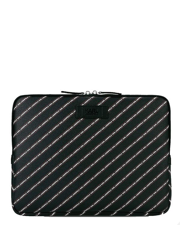 Ženy - Pouzdro na laptop Karl Lagerfeld K/Stripe Logo Laptop Sleeve
