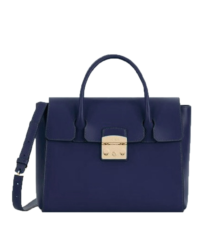 Značky - Kožená kabelka Furla Metropolis M blu