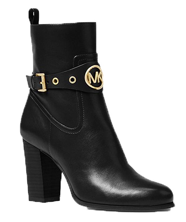 Značky - Boty Michael Kors Heather Leather Ankle Boot černé