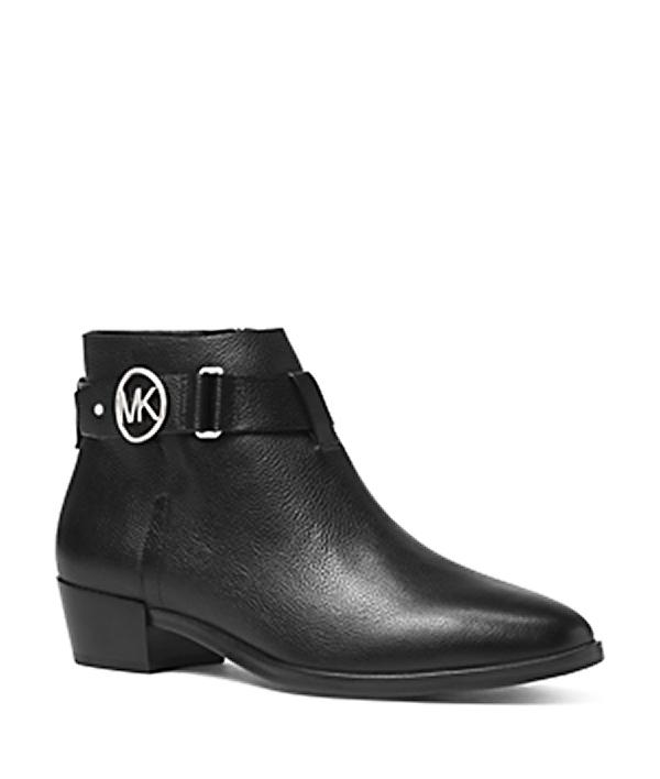 Značky - Boty Michael Kors Harland Leather Booties černé