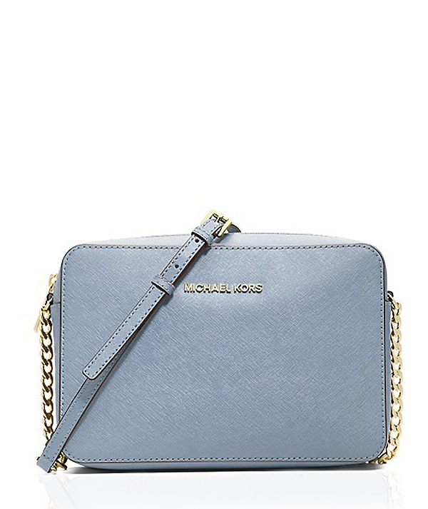 Značky - Kabelka Michael Kors Jet Set Large Saffiano Crossbody pale blue