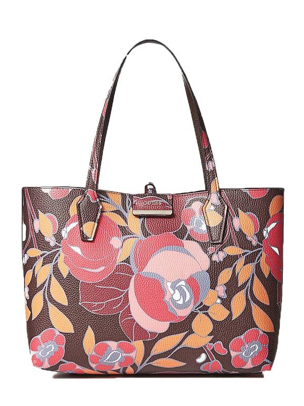 Značky - Kabelka Guess Bobbi Reversible Shopper hnědá multicolor e87a1de3e20