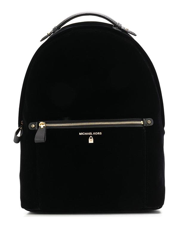 Značky - Batoh Michael Kors Kelsey Large Velvet Backpack černá
