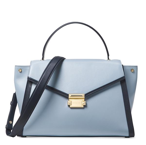 Značky - Kabelka Michael Kors Whitney Large Leather Satchel pale blue