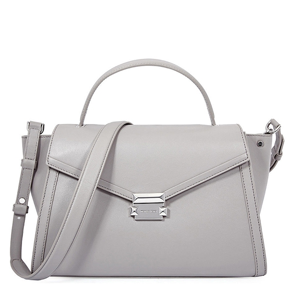 Značky - Kabelka Michael Kors Whitney Large Leather Satchel pearl grey
