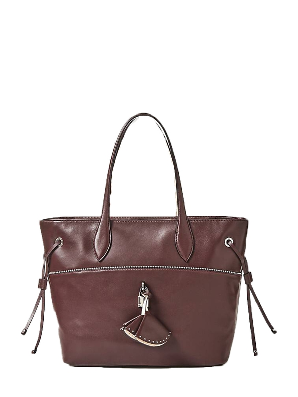 Značky - Kožená kabelka Guess Cleo Quilted Leather Shopper
