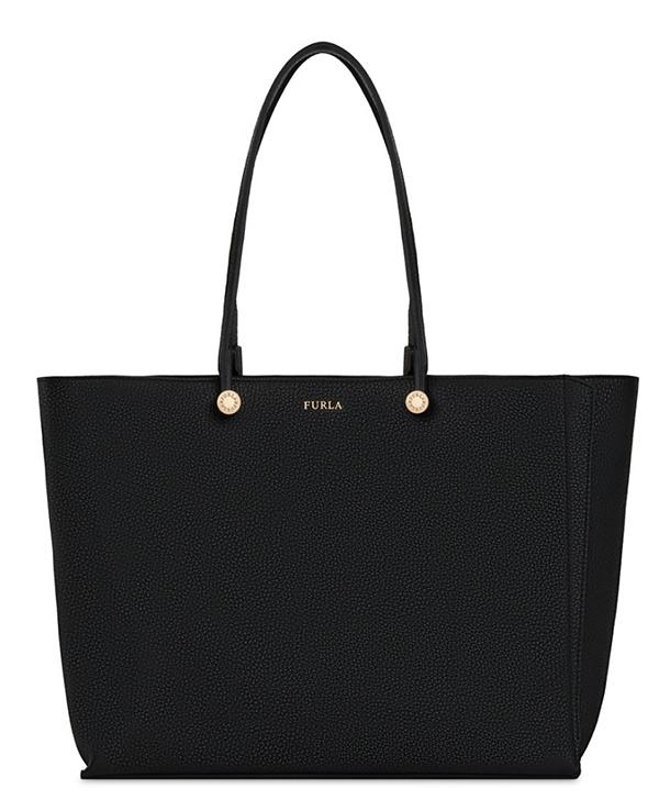 Značky - Kožená kabelka Furla Eden Tote M onyx