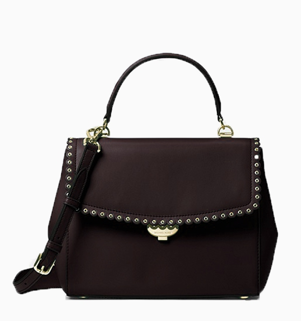 Značky - Kabelka Michael Kors Ava Medium Scalloped Leather Satchel černá