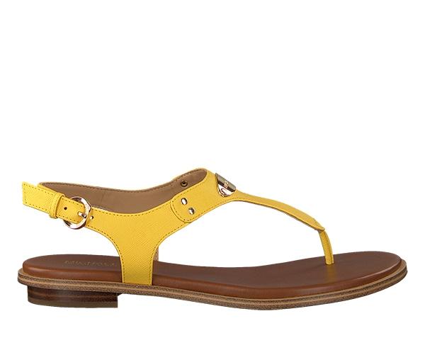 Značky - Kožené sandálky Michael Kors Plate Thong žlutá