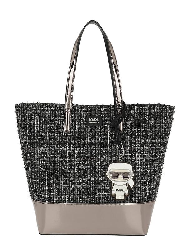 Ženy - Kabelka Karl Lagerfeld Karl Space Tweed Shopper