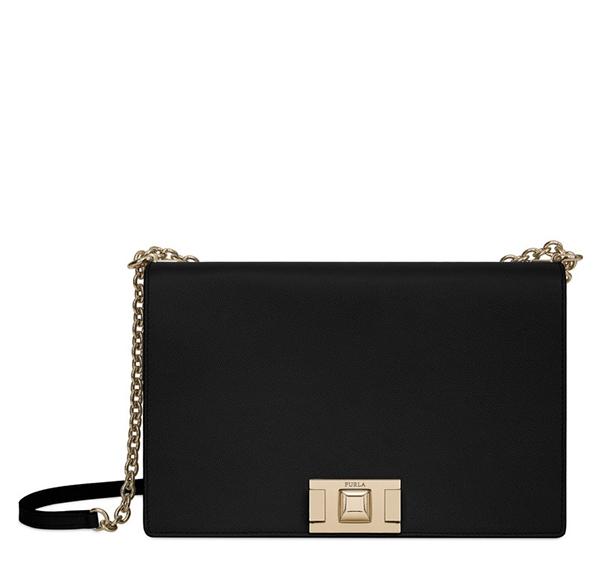 Značky - Kožená kabelka Furla Mimi Crossbody M onyx