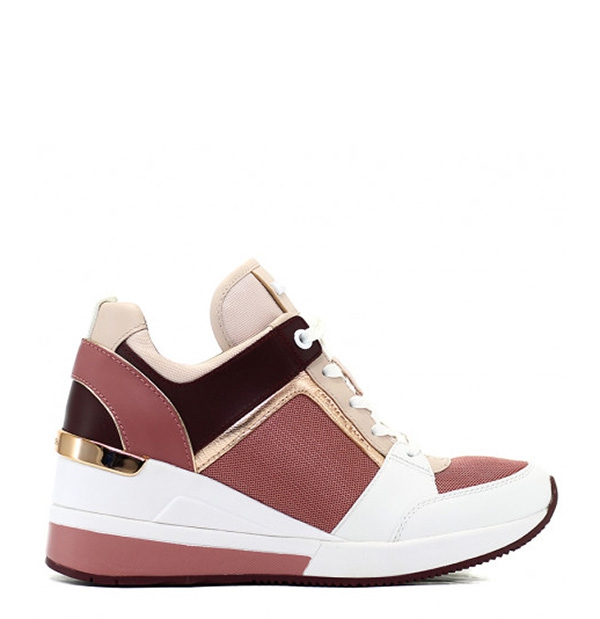 Značky - Obuv Michael Kors tenisky na klínu Georgie Mixed-media Sneaker rose