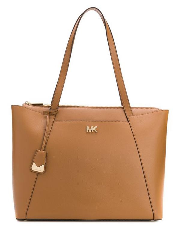 Značky - Kabelka Michael Kors Maddie Large Leather Tote acorn