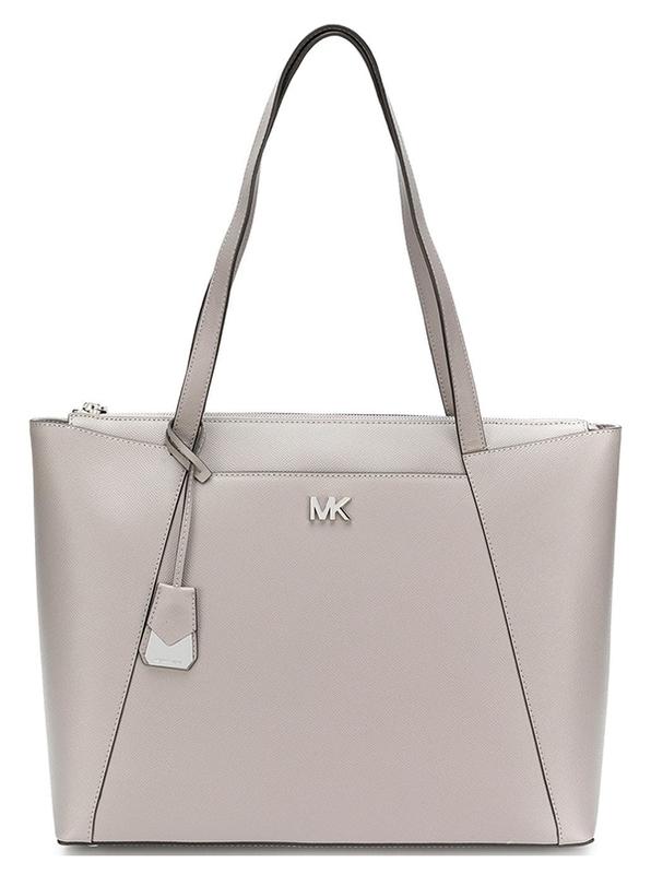 Značky - Kabelka Michael Kors Maddie Large Leather Tote pearl grey