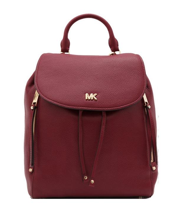 Ženy - Kabelka batoh Michael Kors Evie Medium Backpack maroon