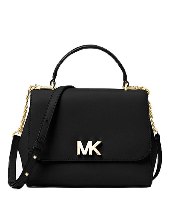 Značky - Kabelka Michael Kors Mott Medium Leather Satchel černá