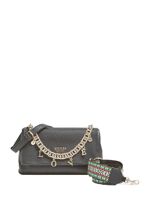 Značky - Kabelka Guess Conner Crossbody With Love Chain