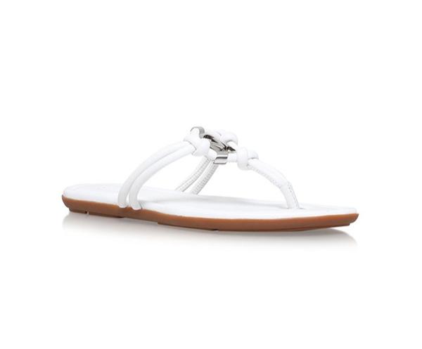 Značky - Kožené sandálky Michael Kors Kinley bilé