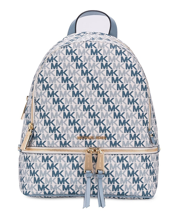 Značky - Kabelka Michael Kors Rhea Medium Backpack Signature optic white