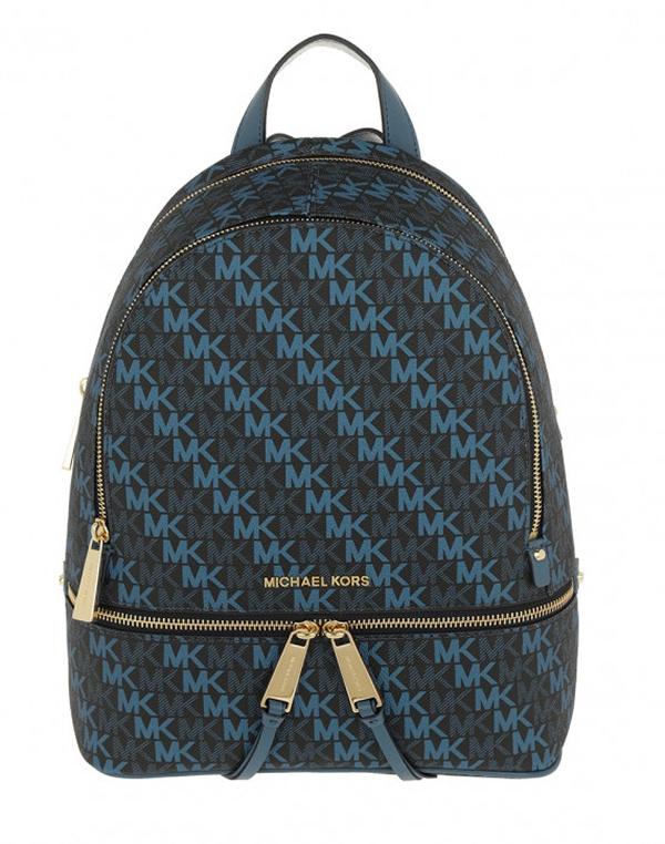 Značky - Kabelka Michael Kors Rhea Medium Backpack Signature admiral