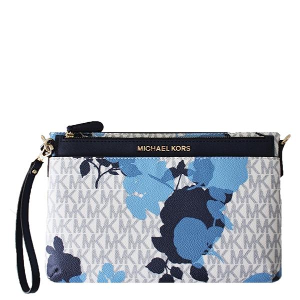 Značky - Kabelka Michael Kors Jet Set Travel Floral Messenger vanilla/navy