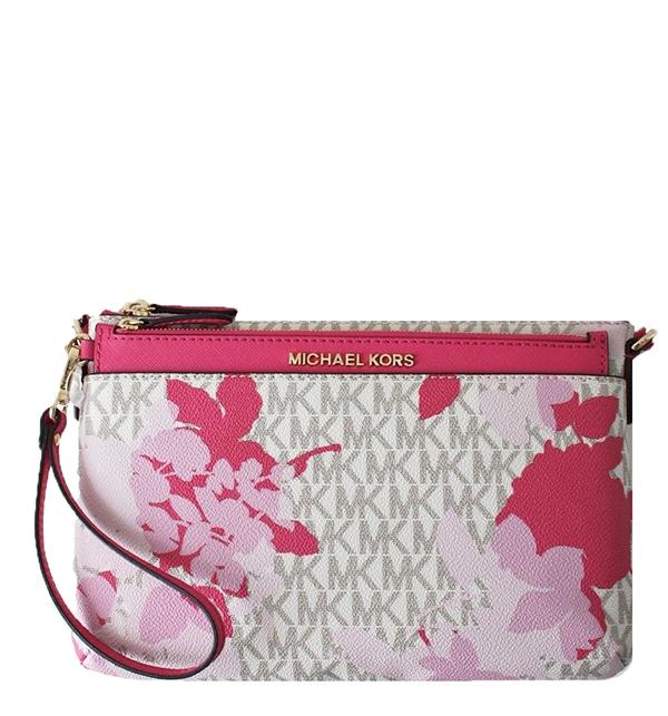 Značky - Kabelka Michael Kors Jet Set Travel Floral Messenger vanilla/pink