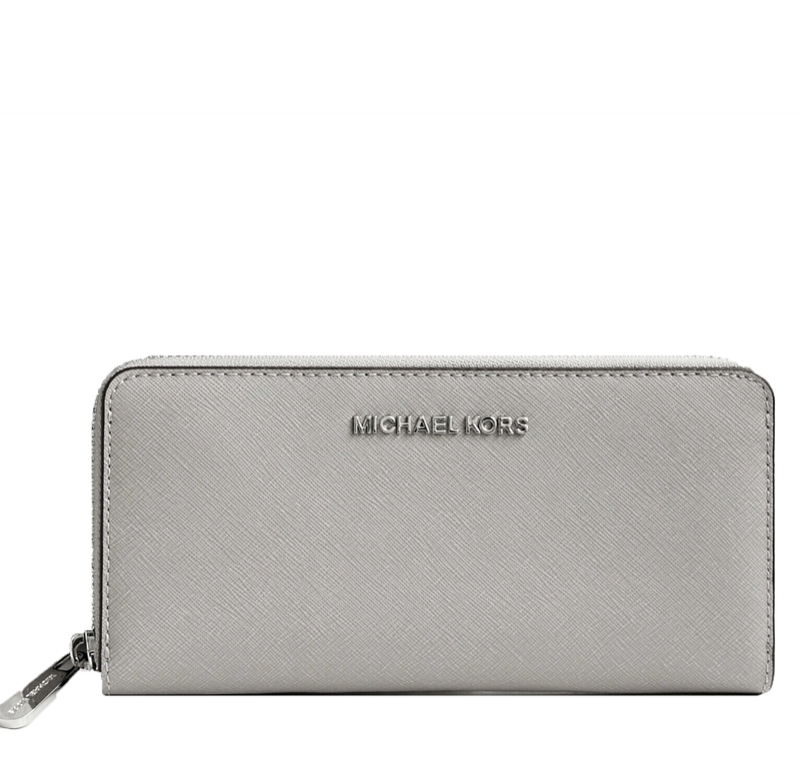 Značky - Peněženka Michael Kors Jet Set Saffiano Continental pearl grey