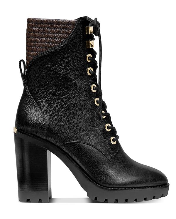 Značky - Obuv Michael Kors Bastian Leather Lace-Up Booties
