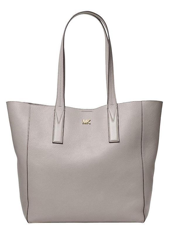 Ženy - Kabelka Michael Kors Junie Large Pebbled Leather Tote pearl grey
