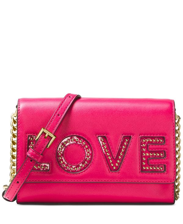Značky - Kabelka Michael Kors Ruby Medium Clutch Love ultra pink