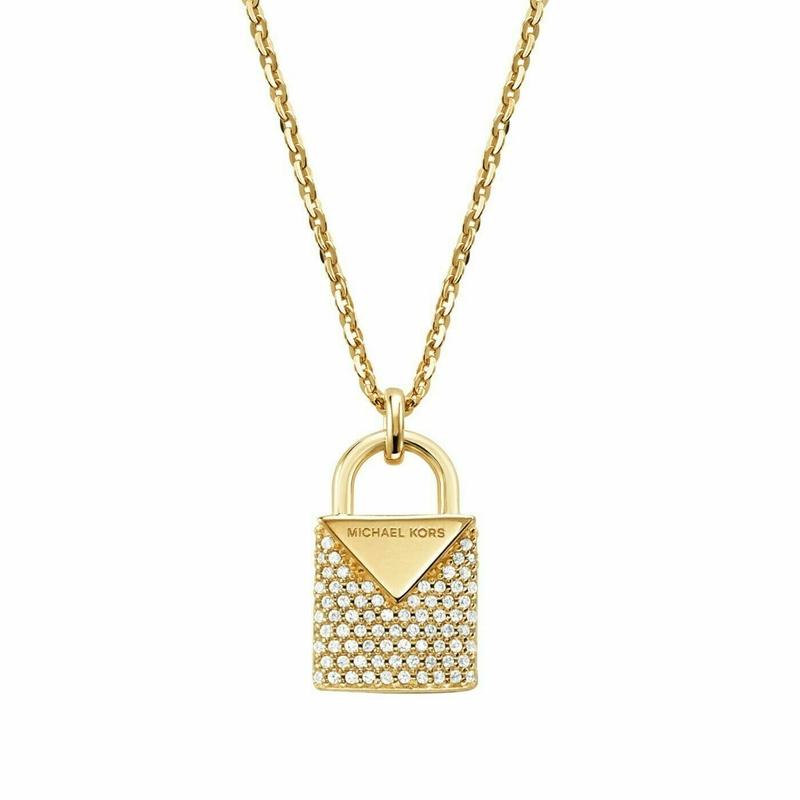 Značky - Náhrdelník Michael Kors Lock zlatý