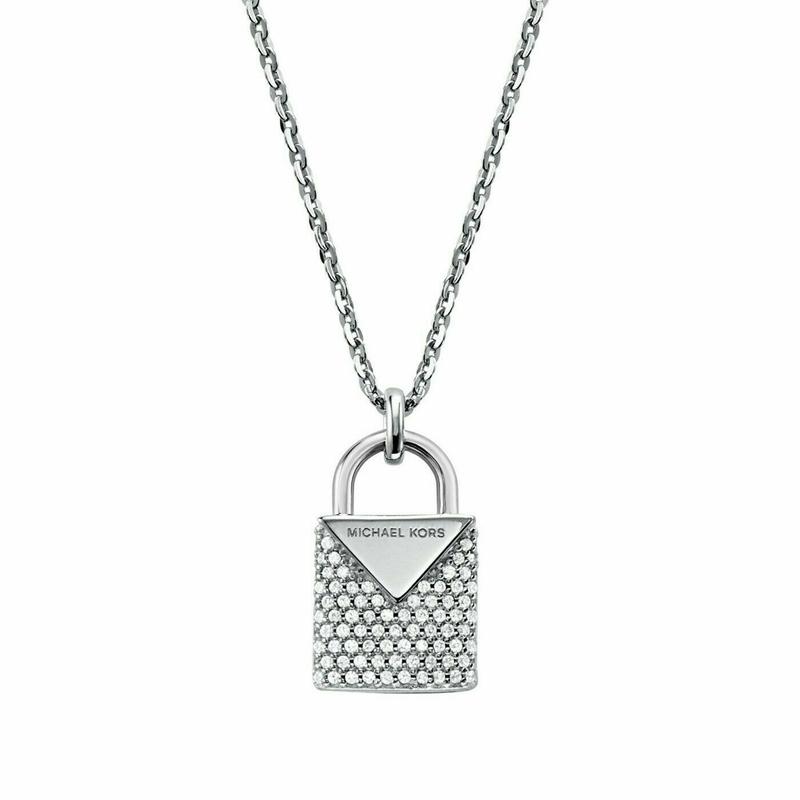 Značky - Náhrdelník Michael Kors Lock stříbrný