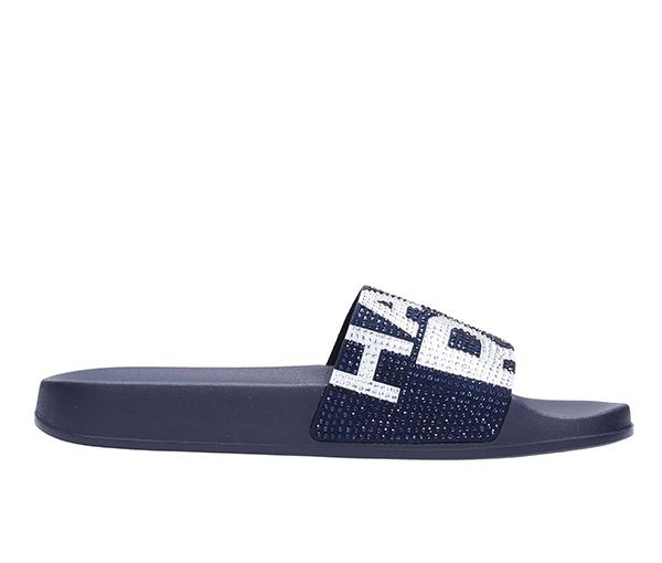 Značky - Obuv nazouváky Michael Kors Gilmore Embellished Graphic Logo Slide temně modré