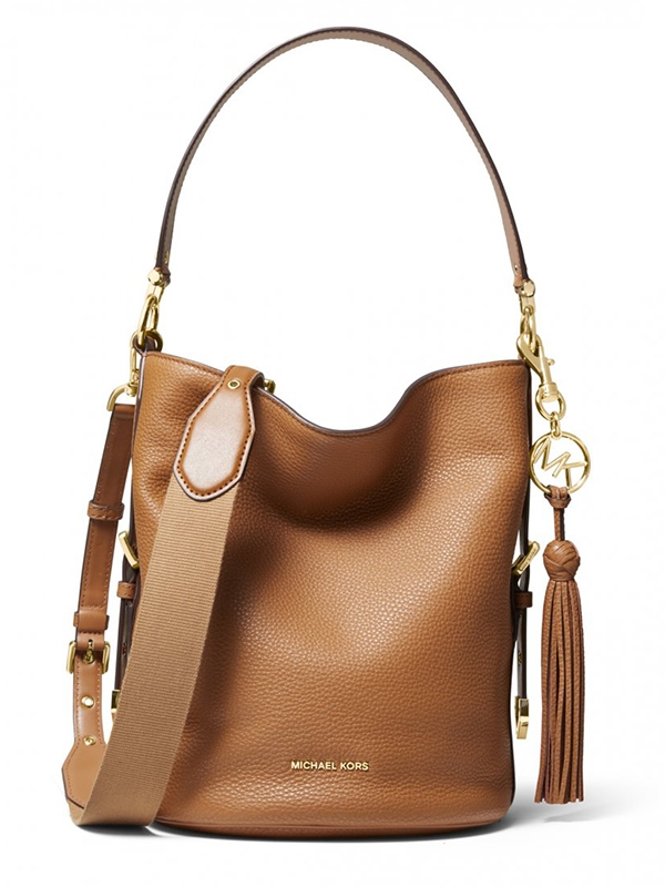 Značky - Kabelka Michael Kors Brooke Pebble Leather Bucket Shoulder