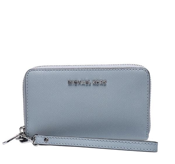 Značky - Peněženka Michael Kors Jet Set Travel Large Smartphone Wristlet dusty blu