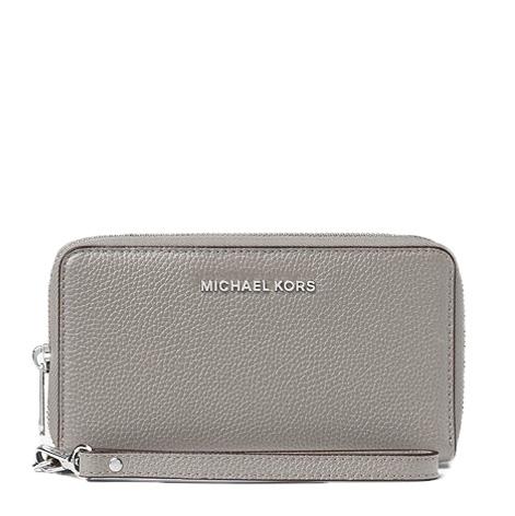 Značky - Peněženka Michael Kors Mercer Large Smartphone Wristlet pearl grey