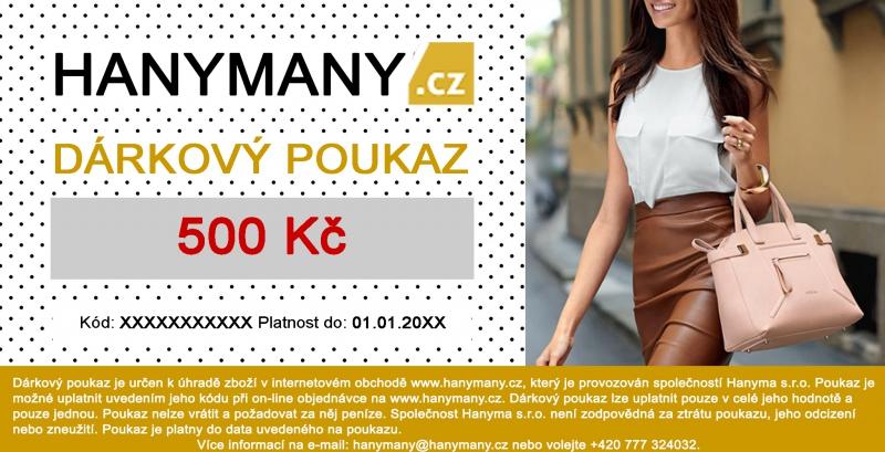 Dárkový poukaz - DÁRKOVÝ POUKAZ Hanymany.cz