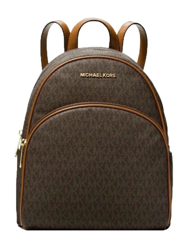 Značky - Kabelka batoh Michael Kors Abbey Medium Signature Backpack brown