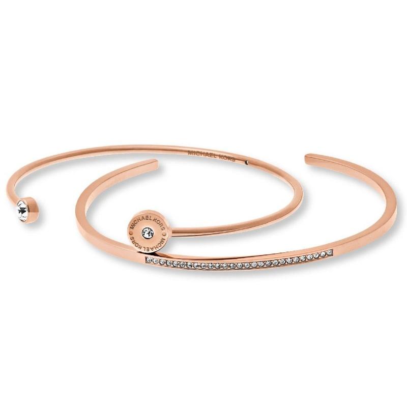 Značky - Náramek Michael Kors 2 Bracelete růžovozlatý