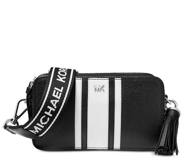 Značky - Kabelka Michael Kors Small Logo Tape Camera černá