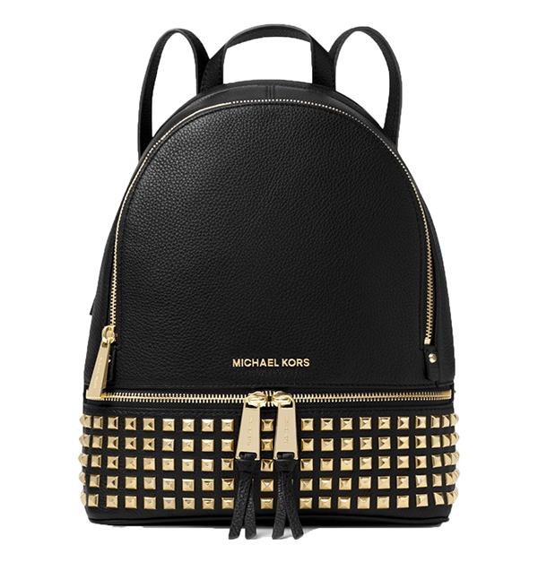 Značky - Kabelka batoh Michael Kors Rhea Medium Studded Leather Backpack