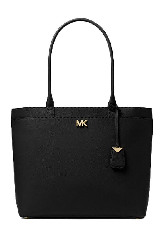 Značky - Kabelka Michael Kors Maddie Large Crossgrain Leather Tote černá