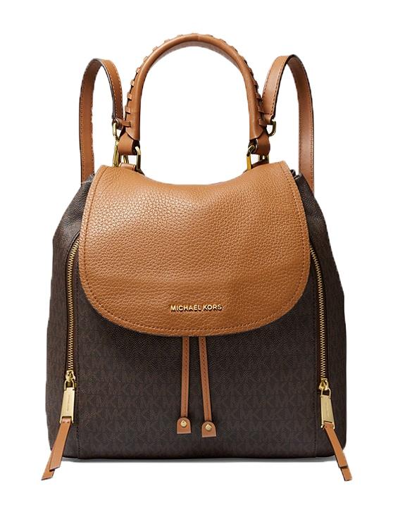 Značky - Kabelka batoh Michael Kors Viv Large Logo and Leather Backpack