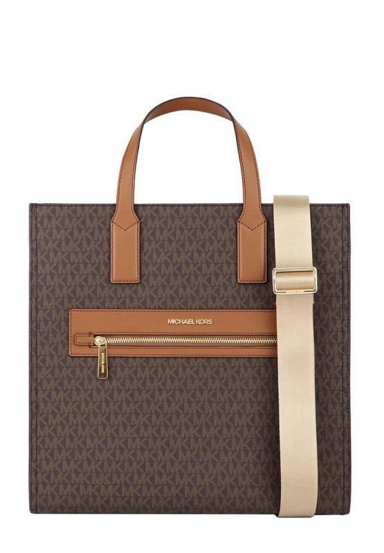 Značky - Kabelka Michael Kors Kenly Large Logo Tote brown/luggage