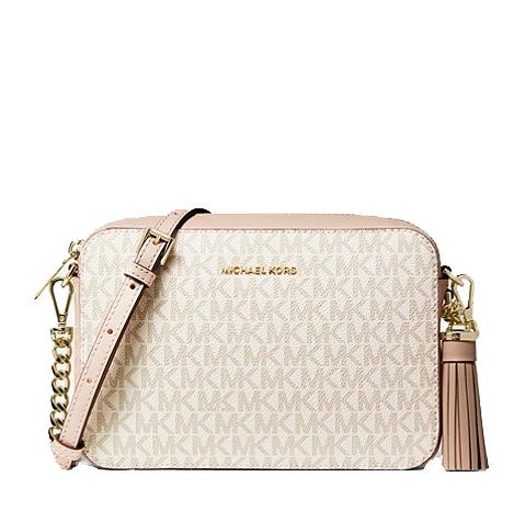 Značky - Kabelka Michael Kors Ginny Medium Logo Crossbody vanilla/soft pink