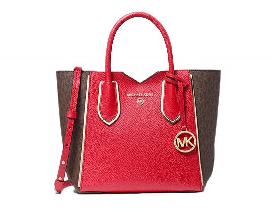 Značky - Kabelka Michael Kors Mae Small Pebbled Leather And Logo Messenger