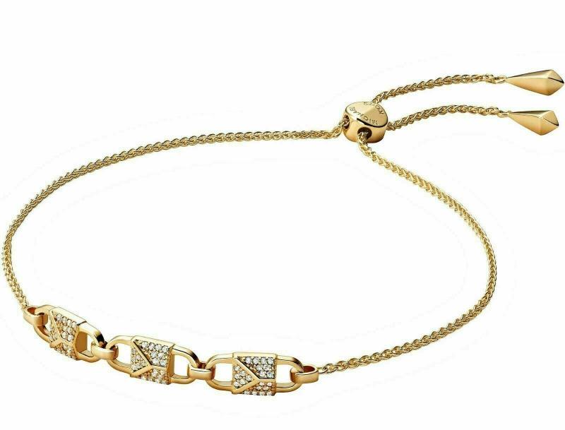 Značky - Náramek Michael Kors Pavé 3 Lock Studs zlatý