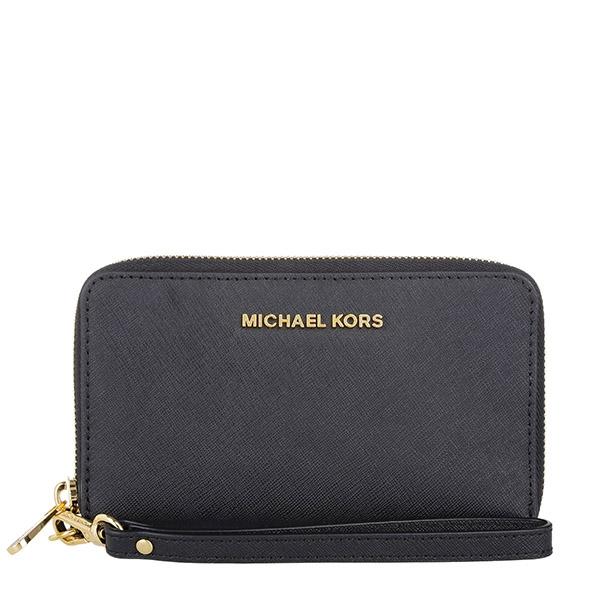 Značky - Peněženka Michael Kors Jet Set Travel Large Smartphone Wristlet černá